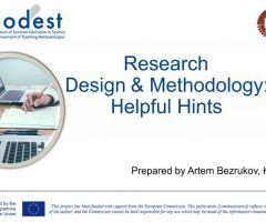 Webinar on Research Methodology: from Setting a Hypothesis to a Publication